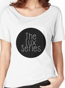 The Lux Series - Black Circle Women's Relaxed Fit T-Shirt