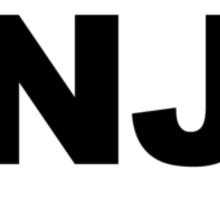 New Jersey NJ Euro Oval Sticker