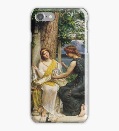 Edward Poynter - Helena And Hermia 1901. Poynter - woman portrait. iPhone Case/Skin