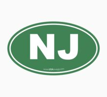 New Jersey NJ Euro Oval GREEN Kids Clothes
