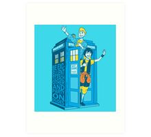 Most Excellent Time Travellers Art Print