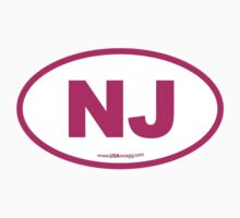 New Jersey NJ Euro Oval PINK by USAswagg2