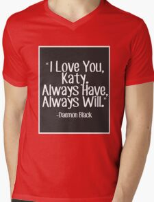 Lux Series Quote - I Love You, Katy Mens V-Neck T-Shirt