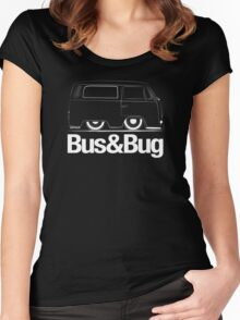 VW Camper Shorty Outline Women's Fitted Scoop T-Shirt