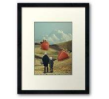 Strawberry Field Collage Framed Print