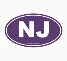 New Jersey NJ Euro Oval PURPLE by USAswagg2