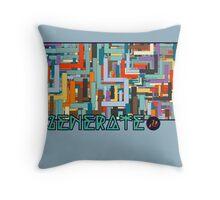 Generate_Maze Throw Pillow