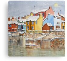Snow on the Rooftops Canvas Print