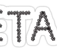 beta flower sticker Sticker