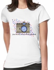 find beauty- vintage camera Womens Fitted T-Shirt
