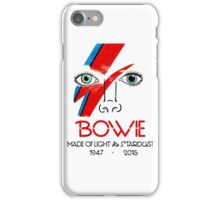 A Tribute to Bowie iPhone Case/Skin