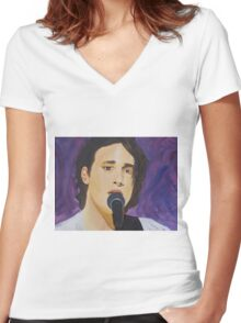 The late great Jeff Buckley Women's Fitted V-Neck T-Shirt