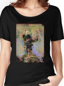 Scary Rainbow Fun Skull Women's Relaxed Fit T-Shirt