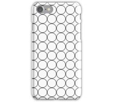 Black Circle Grid On White iPhone Case/Skin