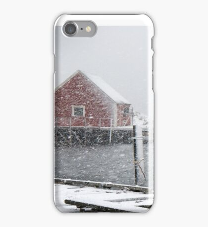 Peggy's cove in January iPhone Case/Skin