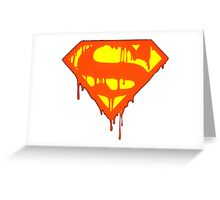 blood super Greeting Card