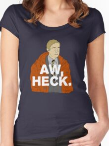 Aw, Heck. Women's Fitted Scoop T-Shirt