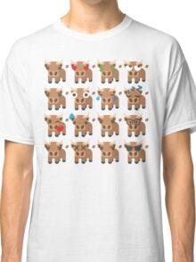 Ox Emoji Different Facial Expressions Classic T-Shirt