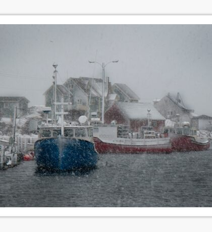 Peggy's Cove Snow Storm Sticker