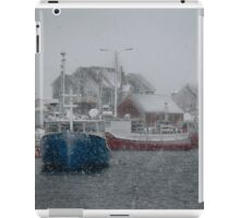 Peggy's Cove Snow Storm iPad Case/Skin