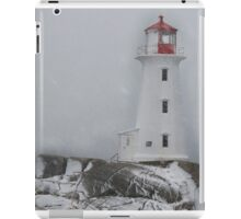 Peggy's point lighthouse Snow Storm iPad Case/Skin