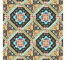Bricolage Patchwork Quilt (small scale) Photographic Print