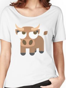 Ox Emoji Thinking Hard and Hmm Look Women's Relaxed Fit T-Shirt