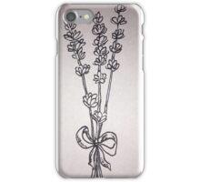 Lavender Flower Sketch iPhone Case/Skin