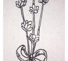 Lavender Flower Sketch Sticker