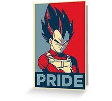 Vegeta -- Saiyan Pride (Obama Hope Poster Parody) Greeting Card