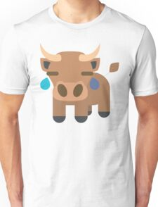 Ox Emoji Teary Eyes and Sad Look Unisex T-Shirt