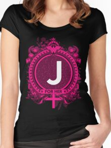 FOR HER - J Women's Fitted Scoop T-Shirt
