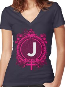 FOR HER - J Women's Fitted V-Neck T-Shirt