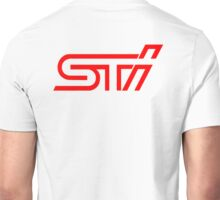 STI Red Classic Back Only Unisex T-Shirt