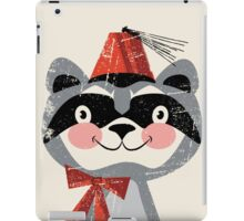 Red fez Racoon iPad Case/Skin