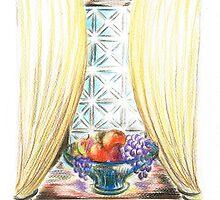 Window of fruit by Teresa White