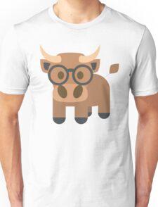 Ox Emoji Nerdy Spectacles Look Unisex T-Shirt