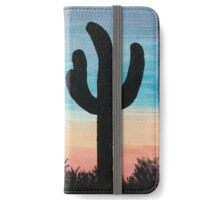 Desert Sunset with Cacti iPhone Wallet/Case/Skin