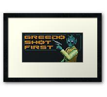 GREEDO Framed Print