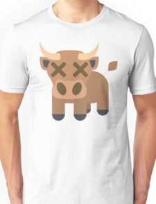 Ox Emoji Fainted and Passed Out Look Unisex T-Shirt