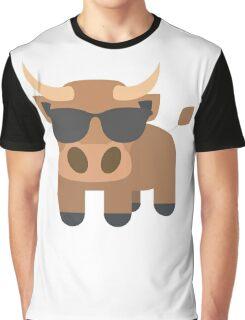 Ox Emoji Cool Sunglasses Look Graphic T-Shirt