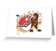 houndoom tattoo pokemon Greeting Card