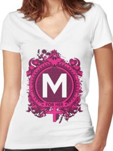 FOR HER - M Women's Fitted V-Neck T-Shirt