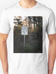 Sign Post in the Australian Bush Unisex T-Shirt