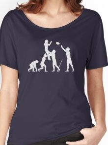 Evolution Of Rugby Funny Women's Relaxed Fit T-Shirt
