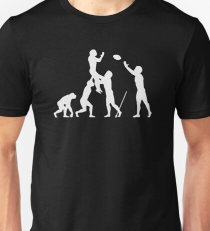 Evolution Of Rugby Funny Unisex T-Shirt