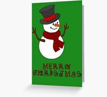 Merry Christmas Snowman clipart Greeting Card