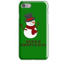 Merry Christmas Snowman clipart iPhone Case/Skin
