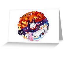 pokeball pokemon Greeting Card