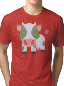 Cow Emoji Money Face Tri-blend T-Shirt